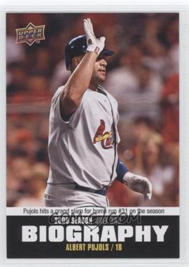 2010 Upper Deck Season Biography #SB-108 - Albert Pujols