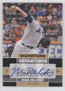2010 Upper Deck Signature Sensations #SS-MP - Mike Pelfrey