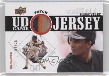 2010 Upper Deck UD Game Jersey Patch #UDGP-EV - Eugenio Velez /25