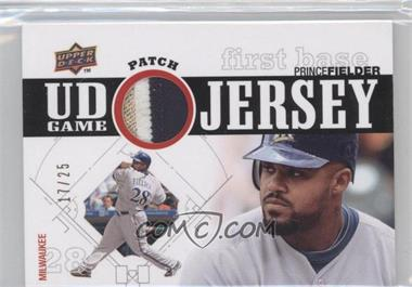 2010 Upper Deck UD Game Jersey Patch #UDGP-PF - Prince Fielder /25