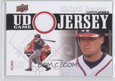 2010 Upper Deck UD Game Jersey #UDGJ-CJ - Chipper Jones