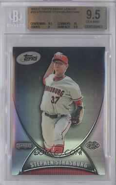 2010 eTopps Minor League Prospectus - [Base] #10 - Stephen Strasburg /1499 [BGS9.5]