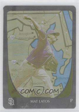 2011 Bowman - [Base] - International Printing Plate Yellow #60 - Mat Latos /1