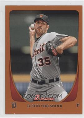 2011 Bowman - [Base] - Orange #48 - Justin Verlander /250