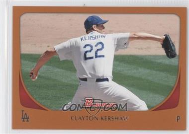 2011 Bowman - [Base] - Orange #65 - Clayton Kershaw /250