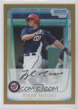 2011 Bowman - Chrome Prospects - Gold Refractor #BCP138 - Tyler Moore /50