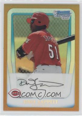 2011 Bowman - Chrome Prospects - Gold Refractor #BCP37 - Dave Sappelt /50
