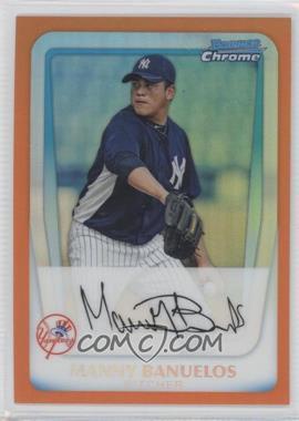 2011 Bowman - Chrome Prospects - Orange Refractor #BCP133 - Manny Banuelos /25