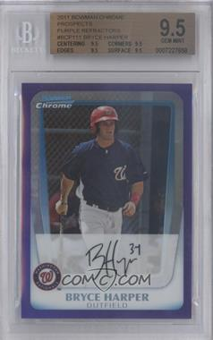 2011 Bowman - Chrome Prospects - Purple Refractor #BCP111 - Bryce Harper /799 [BGS 9.5]