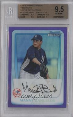 2011 Bowman - Chrome Prospects - Purple Refractor #BCP133 - Manny Banuelos /799 [BGS 9.5]