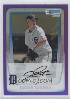2011 Bowman - Chrome Prospects - Purple Refractor #BCP185 - Jacob Turner /799