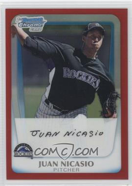 2011 Bowman - Chrome Prospects - Red Refractor #BCP46 - Juan Nicasio /5