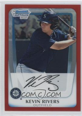 2011 Bowman - Chrome Prospects - Red Refractor #BCP73 - Kevin Rivers /5