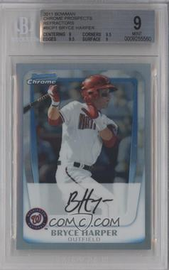 2011 Bowman - Chrome Prospects - Refractor #BCP1 - Bryce Harper /799 [BGS 9]