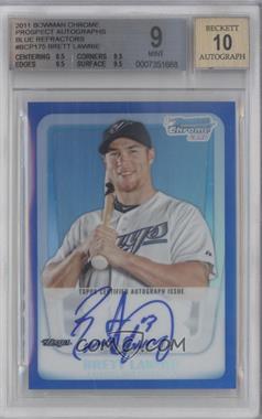 2011 Bowman - Chrome Prospects Autograph - Blue Refractor #BCP175 - Brett Lawrie /150 [BGS9]