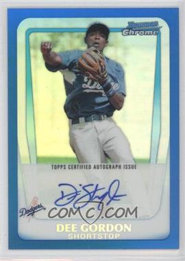 2011 Bowman - Chrome Prospects Autograph - Blue Refractor #BCP80 - Dee Gordon /150