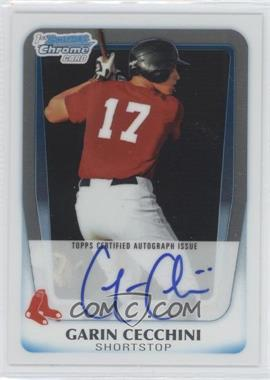 2011 Bowman - Chrome Prospects Autograph #BCP107 - Garin Cecchini