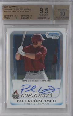 2011 Bowman - Chrome Prospects Autograph #BCP99 - Paul Goldschmidt [BGS9.5]