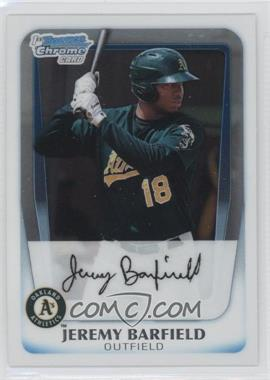 2011 Bowman - Chrome Prospects #BCP3 - Jeremy Barfield