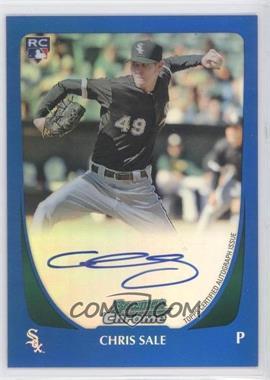 2011 Bowman - Chrome Rookie Autograph - Blue Refractor #220 - Chris Sale /250