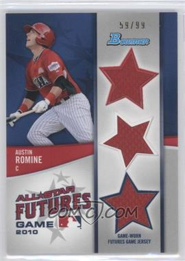 2011 Bowman - Future's Game Triple Relics #FGTR-AR - Austin Romine /99