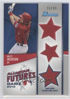 2011 Bowman - Future's Game Triple Relics #FGTR-BJ - Brett Jackson /99