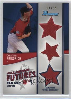 2011 Bowman - Future's Game Triple Relics #FGTR-CF - Christian Friedrich /99