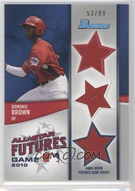 2011 Bowman - Future's Game Triple Relics #FGTR-DB - Domonic Brown /99