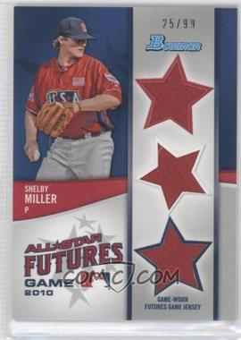 2011 Bowman - Future's Game Triple Relics #FGTR-SM - Shelby Miller /99