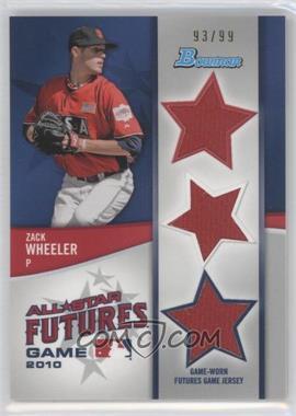 2011 Bowman - Future's Game Triple Relics #FGTR-ZW - Zack Wheeler /99