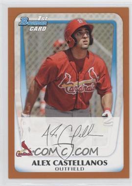 2011 Bowman - Prospects - Orange #BP13 - Alex Castellanos /250