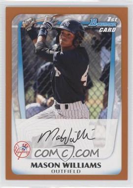 2011 Bowman - Prospects - Orange #BP85 - Mason Williams /250