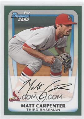 2011 Bowman - Prospects - Retail Green #BP66 - Matt Carpenter /450