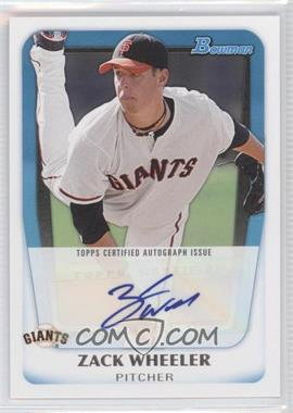 2011 Bowman - Prospects Autograph #BPA-ZW - Zack Wheeler