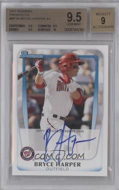 2011 Bowman - Prospects #BP1.2 - Bryce Harper (Autograph) [BGS9.5]