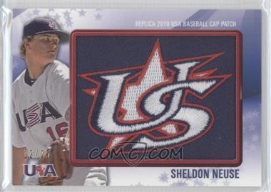 2011 Bowman - Replica 2010 USA Baseball Patch #USA-57 - Sheldon Neuse /25