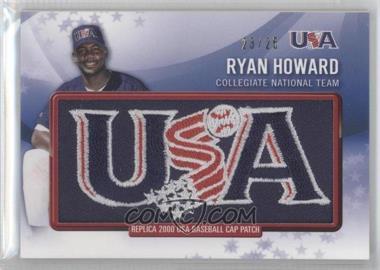 2011 Bowman - Retro Patch Relics #RPR-11 - Ryan Howard /25