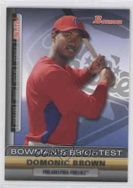 2011 Bowman Bowman's Brightest #BBR18 - Domonic Brown