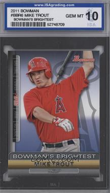 2011 Bowman Bowman's Brightest #BBR6 - Mike Trout [ENCASED]