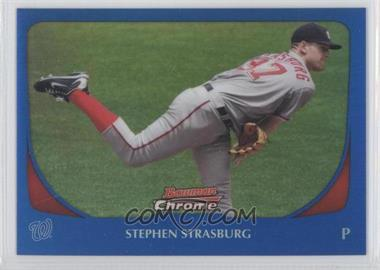 2011 Bowman Chrome - [Base] - Blue Refractor #159 - Stephen Strasburg /150