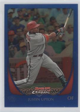 2011 Bowman Chrome - [Base] - Blue Refractor #54 - Justin Upton /150