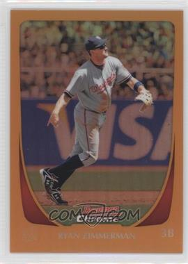 2011 Bowman Chrome - [Base] - Orange Refractor #50 - Ryan Zimmerman /25