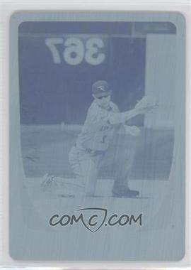 2011 Bowman Chrome - [Base] - Printing Plate Cyan #74 - Aaron Hill /1