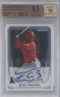 2011 Bowman Chrome - Prospects Autograph #BCP131 - Jean Segura [BGS9.5]