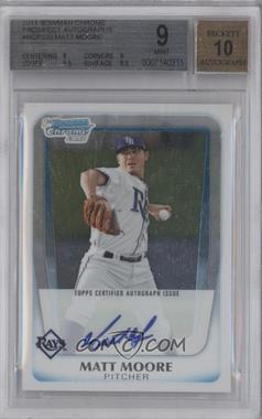 2011 Bowman Chrome - Prospects Autograph #BCP220 - Matt Moore [BGS9]