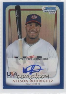 2011 Bowman Chrome - USA 18U National Team Autograph Refractor - Blue #18U-19 - Nelson Rodriguez /99