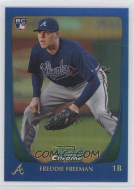 2011 Bowman Chrome Blue Refractor #185 - Freddie Freeman /150