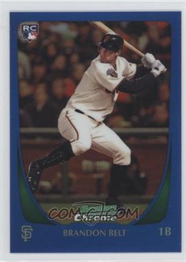 2011 Bowman Chrome Blue Refractor #203 - Brandon Belt /150