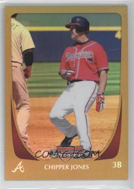 2011 Bowman Chrome Gold Refractor #13 - Chipper Jones /50