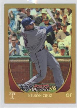 2011 Bowman Chrome Gold Refractor #131 - Nelson Cruz /50